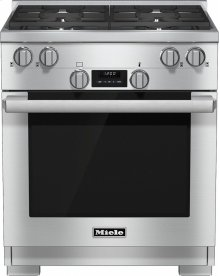 HR 1724 G 30 inch range iDual Fuel model with DirectSelect controls.