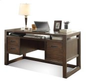 Riata Computer Desk Warm Walnut finish