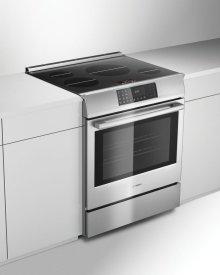 """800 Series 30"""" Induction Slide-in Range 800 Series Stainless Steel HII8055C"""