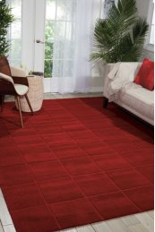 WESTPORT WP31 RED RECTANGLE RUG 2'6'' x 4'