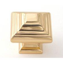 Geometric Knob A1525 - Polished Brass