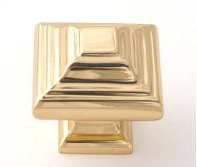 Geometric Knob A1525 - Polished Brass