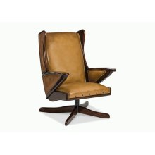 Boomerang Swivel Chair w/ wooden overlays