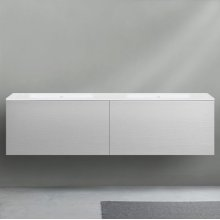 """51 collection series 1800 wall-mount vanity, White gloss 71"""" w x 19"""" h x 20 1/4"""" d"""