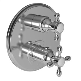 """Stainless Steel - PVD 1/2"""" Round Thermostatic Trim Plate with Handle"""
