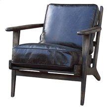 Brooks Lounge Chair-Ebony, Blk Wsh Weath