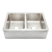 Hammered Nickel Corniglia Kitchen Sink