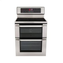 LG Studio - 6.7 cu. ft. Capacity Electric Double Oven Range with Infrared Grill