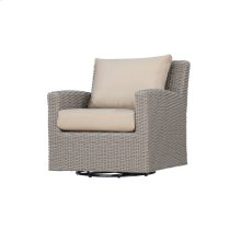 Swivel Glider Lounge Chair Spuncrylic Beige Dots 7101-26
