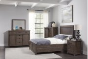 Madison County 3 PC King Panel Bedroom: Bed, Dresser, Mirror - Barnwood Product Image