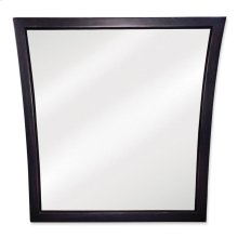 """25"""" X 25"""" Black mirror with beveled glass"""