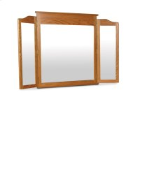Shaker Tri-View Mirror, Medium