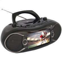 "7"" Bluetooth® DVD Boom Box & TV"
