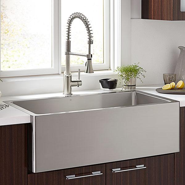 Superb Hillside 36 Inch Stainless Steel Kitchen Sink   Stainless Steel