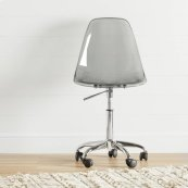 Acrylic Office Chair with Wheels - Clear Smoked Gray