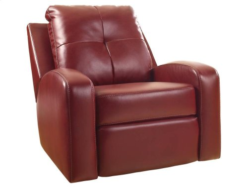 RED HOT BUY- BE HAPPY ! Swivel Glider Recliner RED