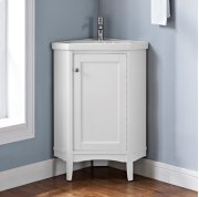"Shaker Americana 26"" Corner Vanity - Polar White Product Image"
