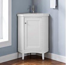 "Shaker Americana 26"" Corner Vanity - Polar White"