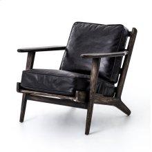 Rialto Ebony Cover Black Wash Weathered Finish Brooks Lounge Chair