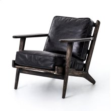 Rialto Ebony Cover Black Wash Weathered Finish Brooks Lounge Chair