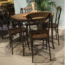 Aspen Wood / Metal Barstool