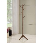 Traditional Brown Coat Rack Product Image