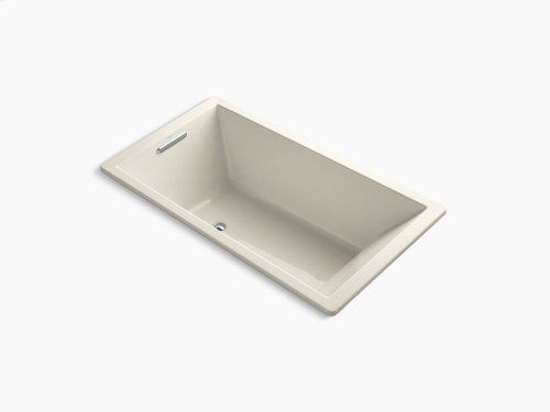 "Almond 66"" X 36"" Drop-in Vibracoustic Bath With End Drain"