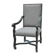 St. James Nailhead and Linen Chair Product Image