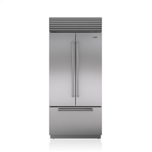 "36"" Induction Range with 36"" French Door Fridge"