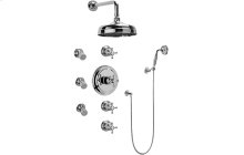 Canterbury/Nantucket Thermostatic Set w/Body Sprays & Handshower (Rough & Trim)
