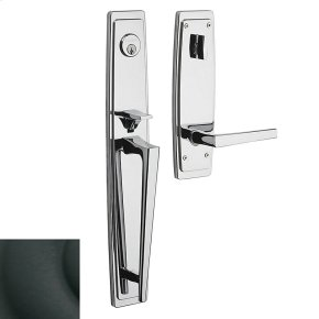 Satin Black Palm Springs Full Escutcheon Handleset