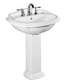 Vanier Pedestal Lavatory in White