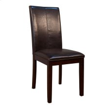Curved Back Parson Chair-Brown
