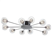 Estelle 10 Ceiling Light  Clear