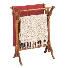 """Nostalgic Oak"" Blanket Rack"