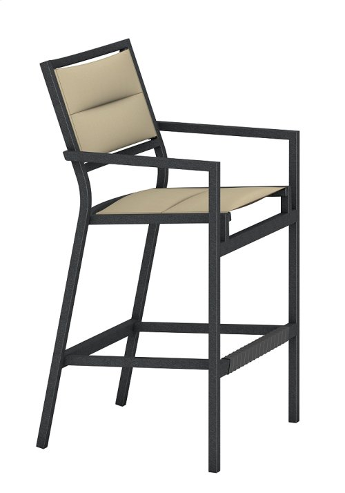 Cabana Club Padded Sling Stationary Bar Stool