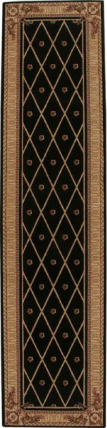 Hard To Find Sizes Ashton House As03 Black Rectangle Rug 10' X 17'