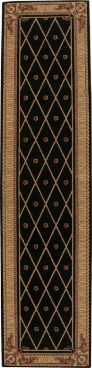 Hard To Find Sizes Ashton House As03 Black Square Rug 8' X 8'