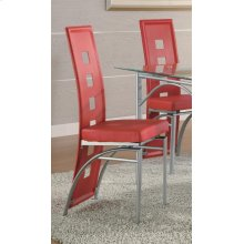 Los Feliz Contemporary Red Dining Chair