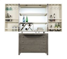 Complete Bar Cabinet-wood Base-driftwood Finish W/top-white Finish Set Up