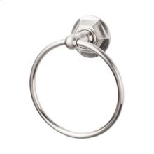 Edwardian Bath Ring Hex Backplate - Brushed Satin Nickel