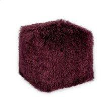 Lamb Fur Pouf Purple