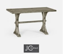 "54"" Solid Rustic Grey Dining Table"