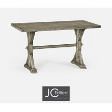 """54"""" Solid Rustic Grey Dining Table"""