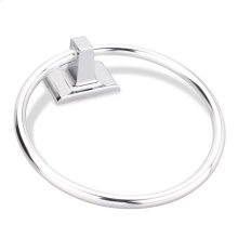 Elements Traditional Towel Ring. Finish: Polished Chrome. Packed in White Box.