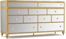 Bewitch Nine-Drawer Mirrored Dresser