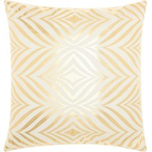 """Luminescence L9294 Ivory/gold 18"""" X 18"""" Throw Pillows"""