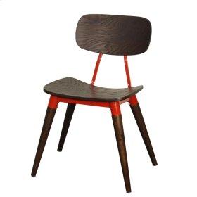 Arlo KD Side Chair , Espresso/Red