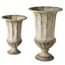 Distressed Ivory Urn Planters (2 pc. set) Product Image