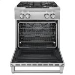 Kitchenaid 30'' 4-Burner Dual Fuel Freestanding Range, Commercial-Style - Stainless Steel